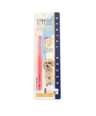 PET PARADISE ぺティソワンデンタル ブラシ 全犬種用 歯ブラシ  ピンク ピンク(淡)