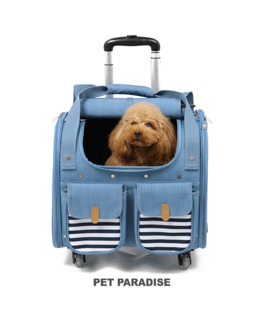 PET PARADISE ペットパラダイス コロコロキャリーM 4輪 水色