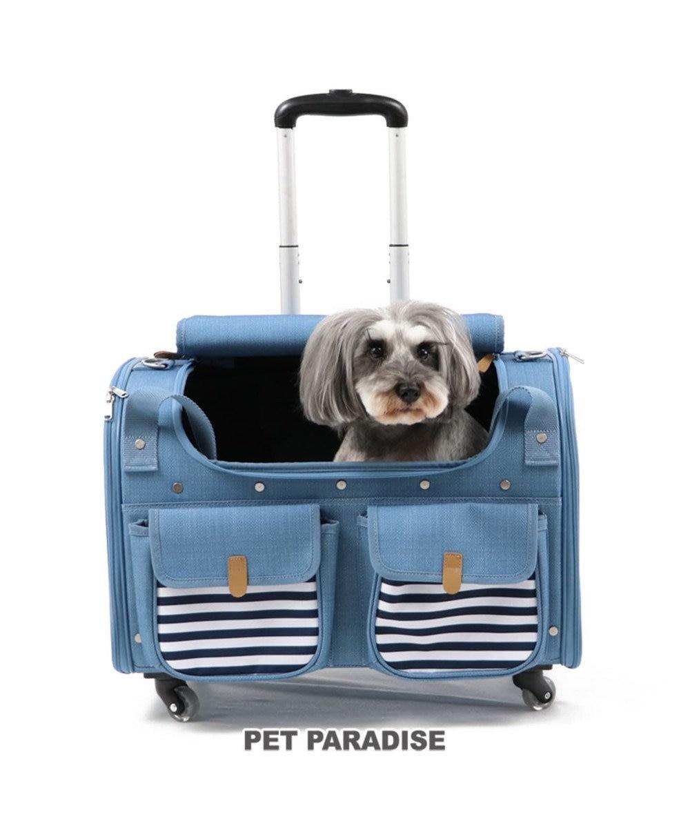 PET PARADISE ペットパラダイス コロコロキャリーL キャスター付き 水色