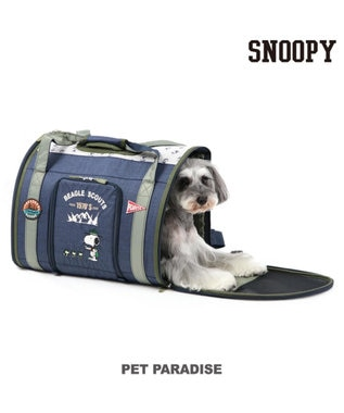 PET PARADISE スヌーピー ペットキャリーバッグM スカウト 折畳リュック〔小型犬〕 紺(ネイビー・インディゴ)