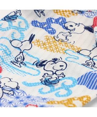 PET PARADISE 【ペットDSS】スヌーピー 和柄甚平 日本上陸50周年記念商品 水色