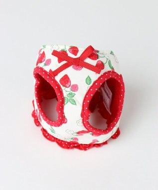 PET PARADISE プリティブーケ ベストハーネス 苺柄(赤)ペット3S 赤
