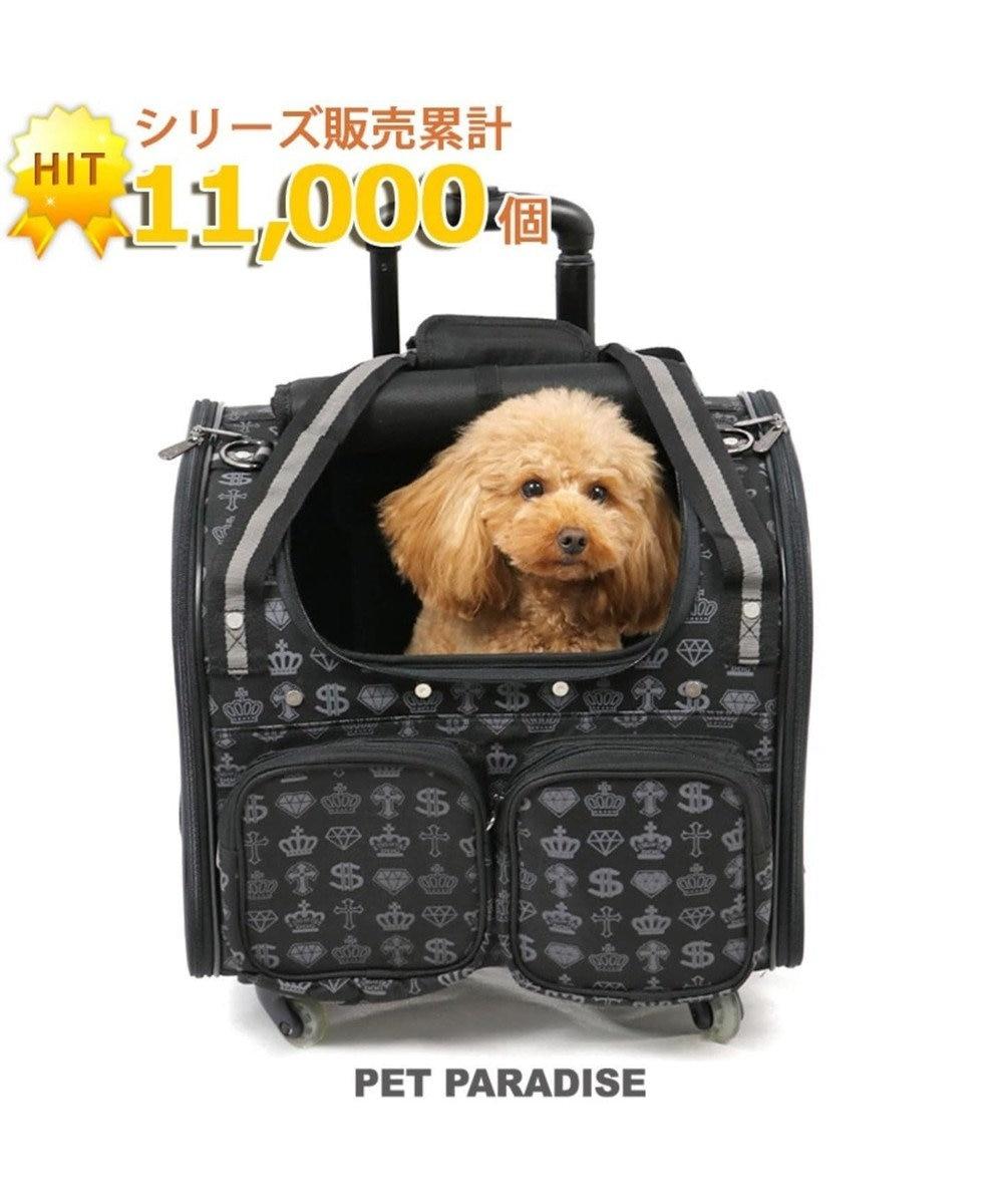 PET PARADISE ペットパラダイス コロコロキャリーM 王冠 四輪 黒