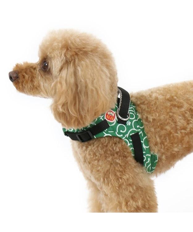 PET PARADISE なりきりペッツ ハーネス 唐草(緑)【SS~S】 緑