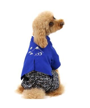 PET PARADISE なりきりペッツ 羽織はかま(青)【4S/3S/DSS/SS/DS/S/DM】 青
