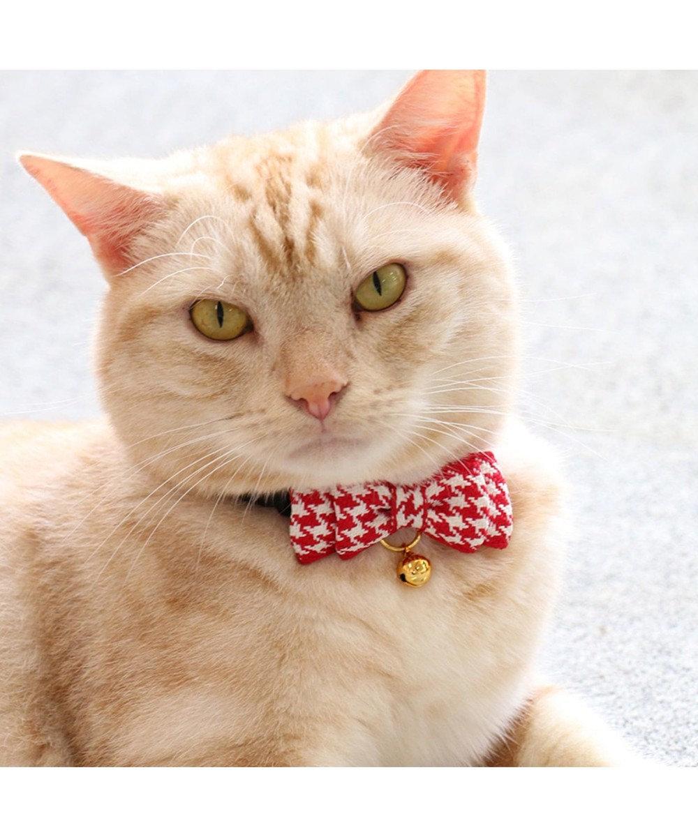 PET PARADISE ネコネスト 猫用首輪S 2WAYタイプ 赤千鳥格子 0