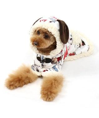 PET PARADISE [ネット店限定]スヌーピー 着る毛布 ライナス柄SM/M/L 白~オフホワイト