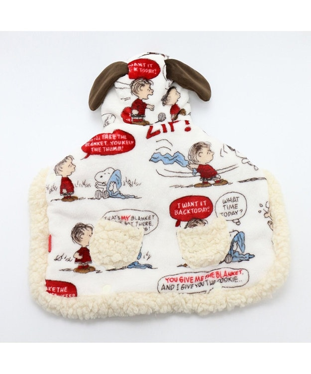 PET PARADISE [ネット店限定]スヌーピー 着る毛布 ライナス柄SM/M/L