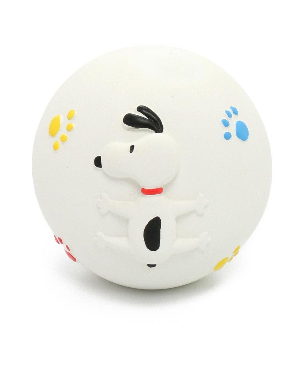 PET PARADISE スヌーピー 犬用おもちゃ ラテックスボール大 白~オフホワイト