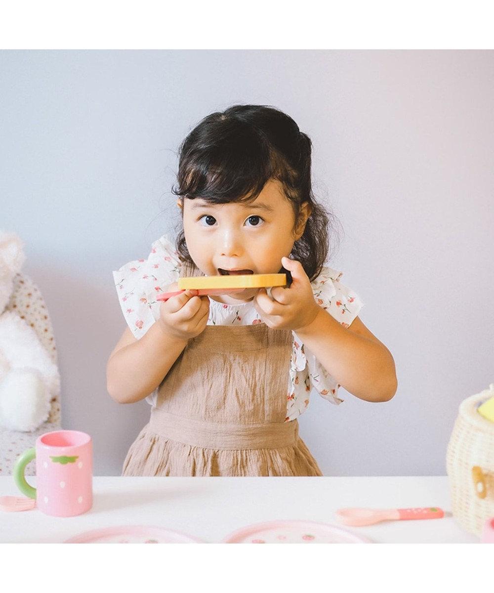 Mother garden 《52000個突破》マザーガーデン 木製 おままごと ままごと セット 野いちご ポップアップトースター&モーニングセット 木のままごと 木のおもちゃ ままごとセット お誕生日プレゼント ピンク(淡)