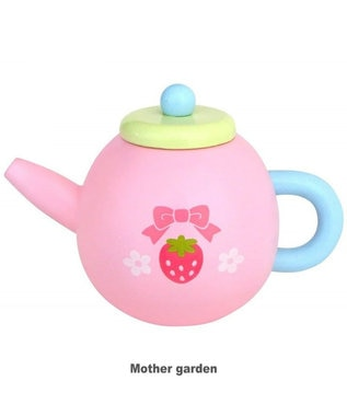 Mother garden マザーガーデン 木のおままごと パステルティーポット ピンク(淡)