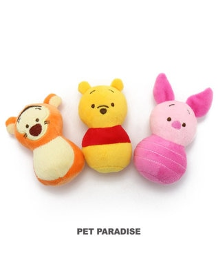 PET PARADISE ディズニー ピグレット 犬用おもちゃ お手玉トイ ピンク(淡)