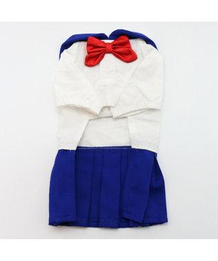 PET PARADISE なりきりペッツ セーラー服(青) 3S/DSS/SS/DS/S 白~オフホワイト