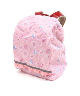 Mother garden うさもも 雨の日ランドセルカバー A4サイズ対応 収納ポーチ付き ピンク(淡)