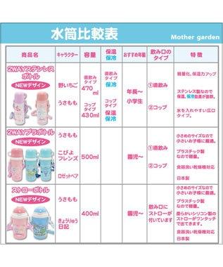 Mother garden うさもも 子供用水筒 お花レース柄 ストロータイプ ピンク(淡)