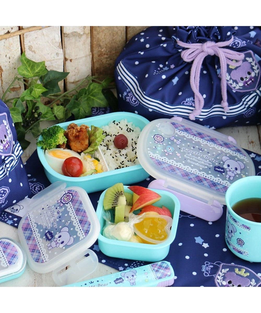 Mother garden くまのロゼット 1段お弁当箱一段ボックス 青緑