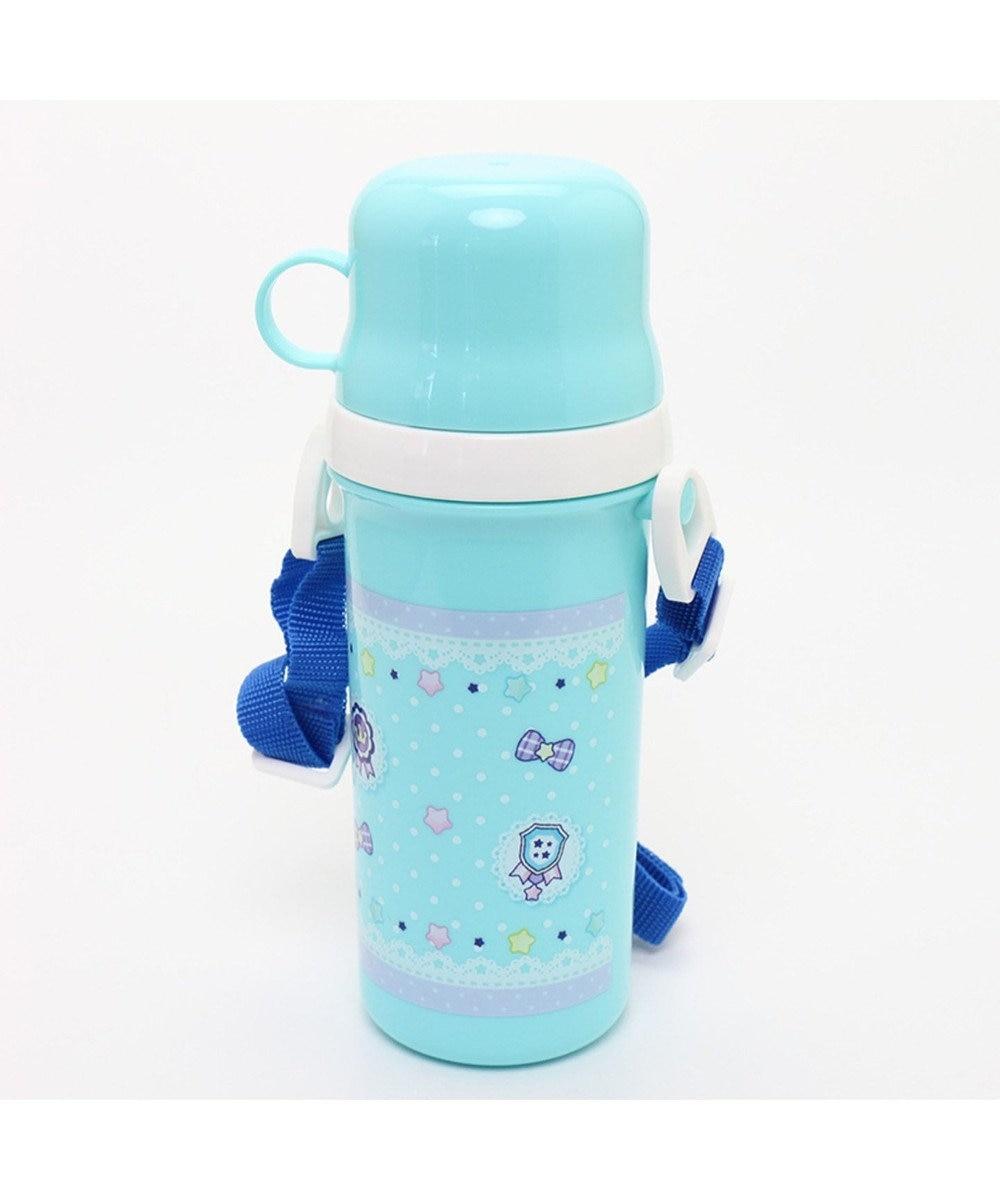 Mother garden くまのロゼット コップ付き水筒プラ水筒 青緑
