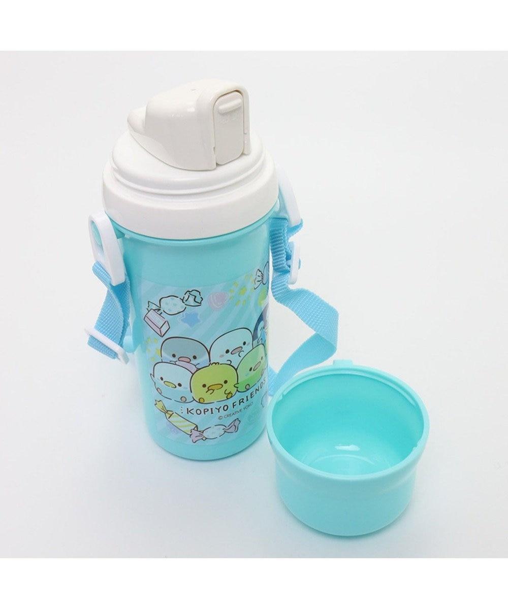 Mother garden こぴよフレンズ コップ付きプラ水筒直のみ子供用水筒 青緑