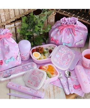 Mother garden マザーガーデン 1段お弁当箱コスメ柄一段ボックス 紫
