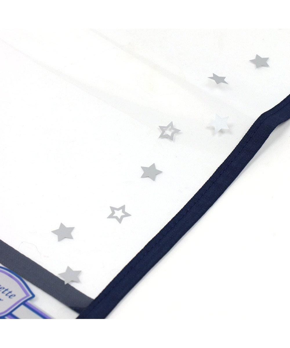 Mother garden マザーガーデン くまのロゼット ランドセルカバー格子柄A4ランドセル対応透 紺(ネイビー・インディゴ)