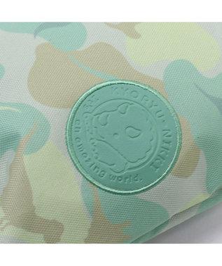 Mother garden マザーガーデン きょうりゅう日記 シューズバッグ 迷彩柄 上履き入れ 青緑