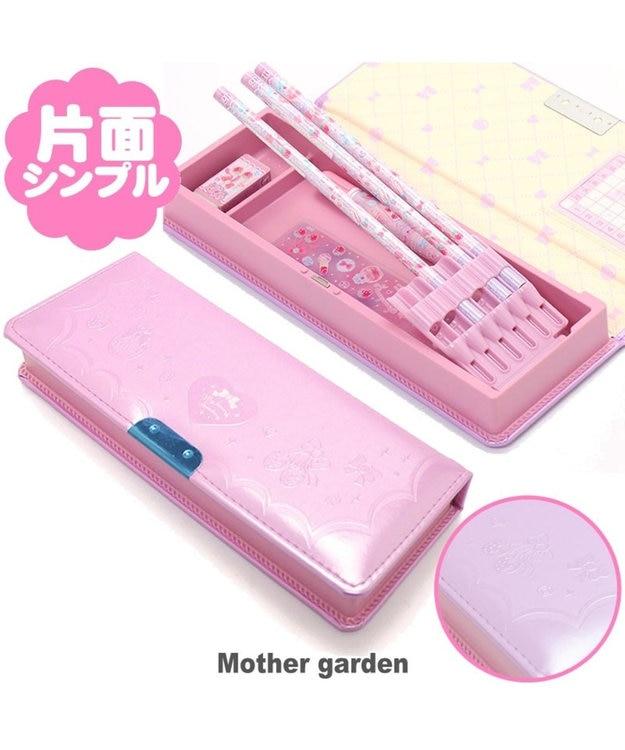 Mother garden マザーガーデン 片開きペンケース 野いちご柄 筆箱  ふでばこ