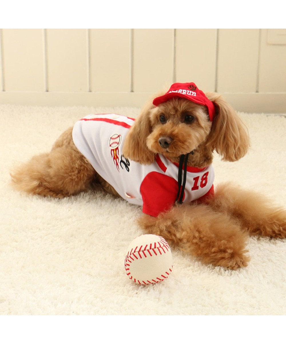 PET PARADISE なりきりペッツ 野球シャツ 3S/DSS/SS/DS/S 白~オフホワイト