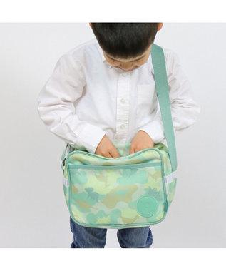 Mother garden マザーガーデン きょうりゅう日記 通園バッグ ショルダー迷彩柄 黄緑