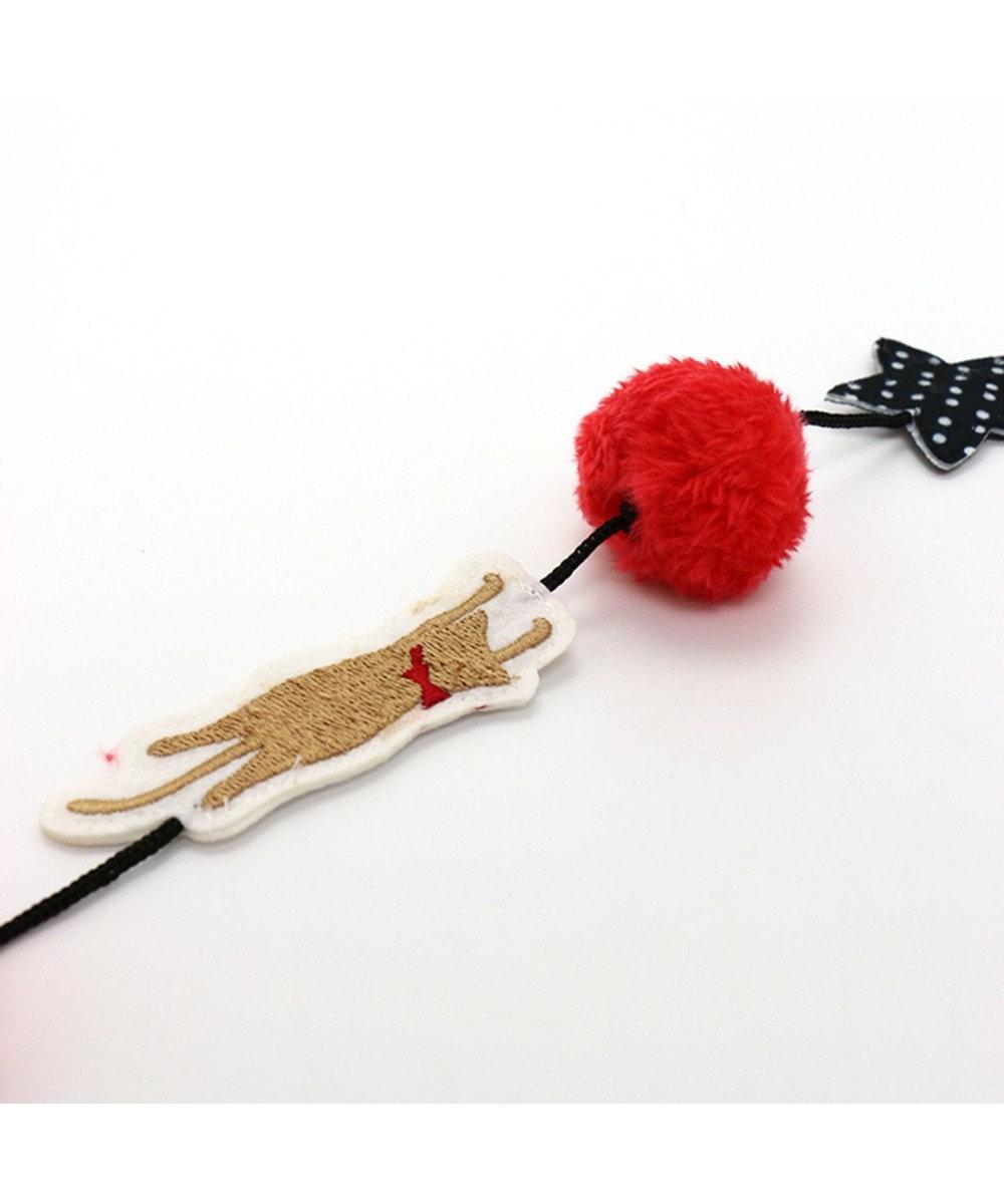 PET PARADISE ネコネスト 猫用おもちゃ 猫じゃらしドット 黒