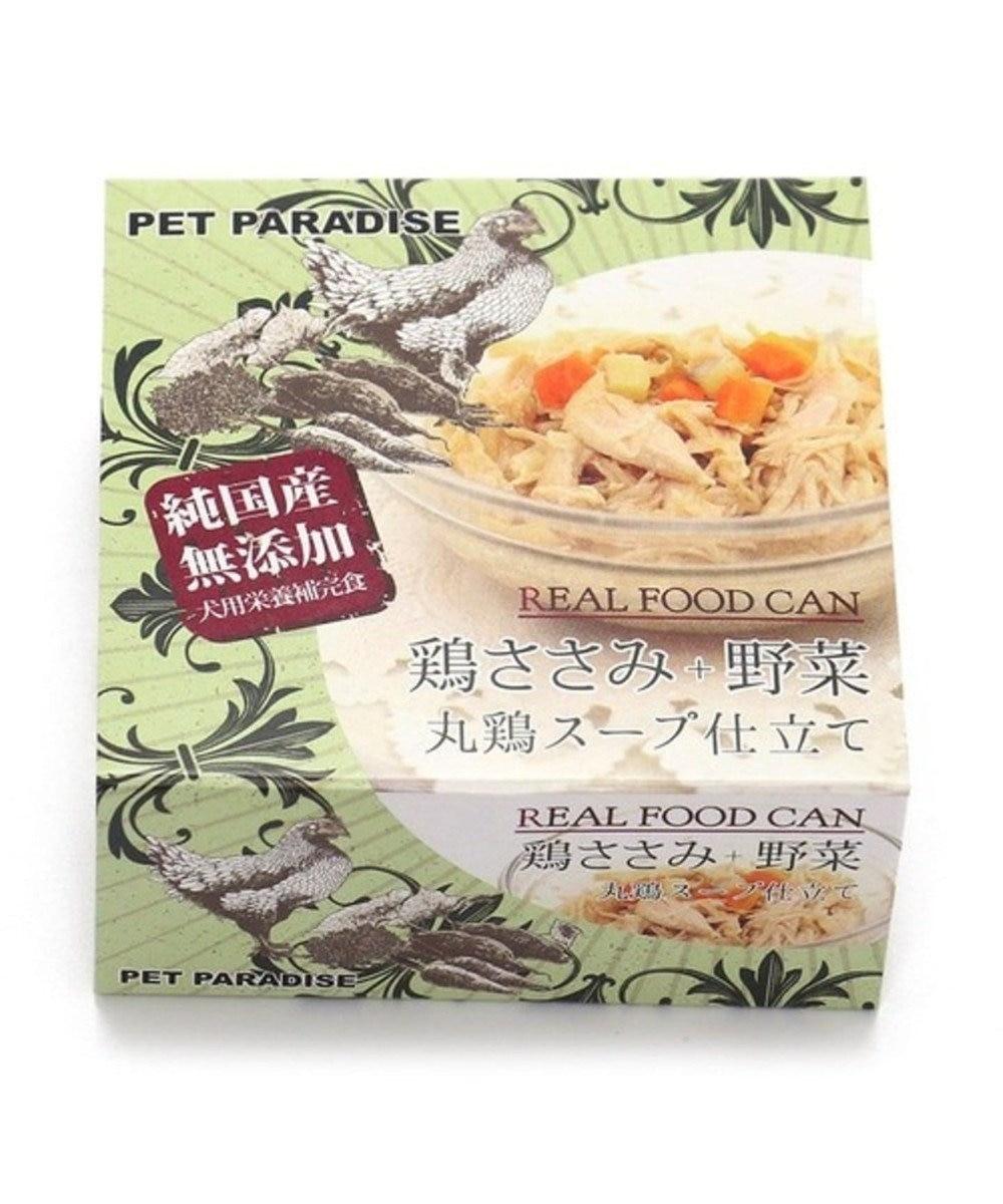 PET PARADISE ネット限定!ペットパラダイス リアルフード缶24個セット とりささみ× 野菜 原材料・原産国