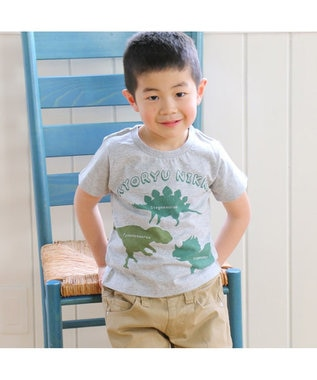 Mother garden きょうりゅう日記 Tシャツ 恐竜シルエットキッズサイズ 0