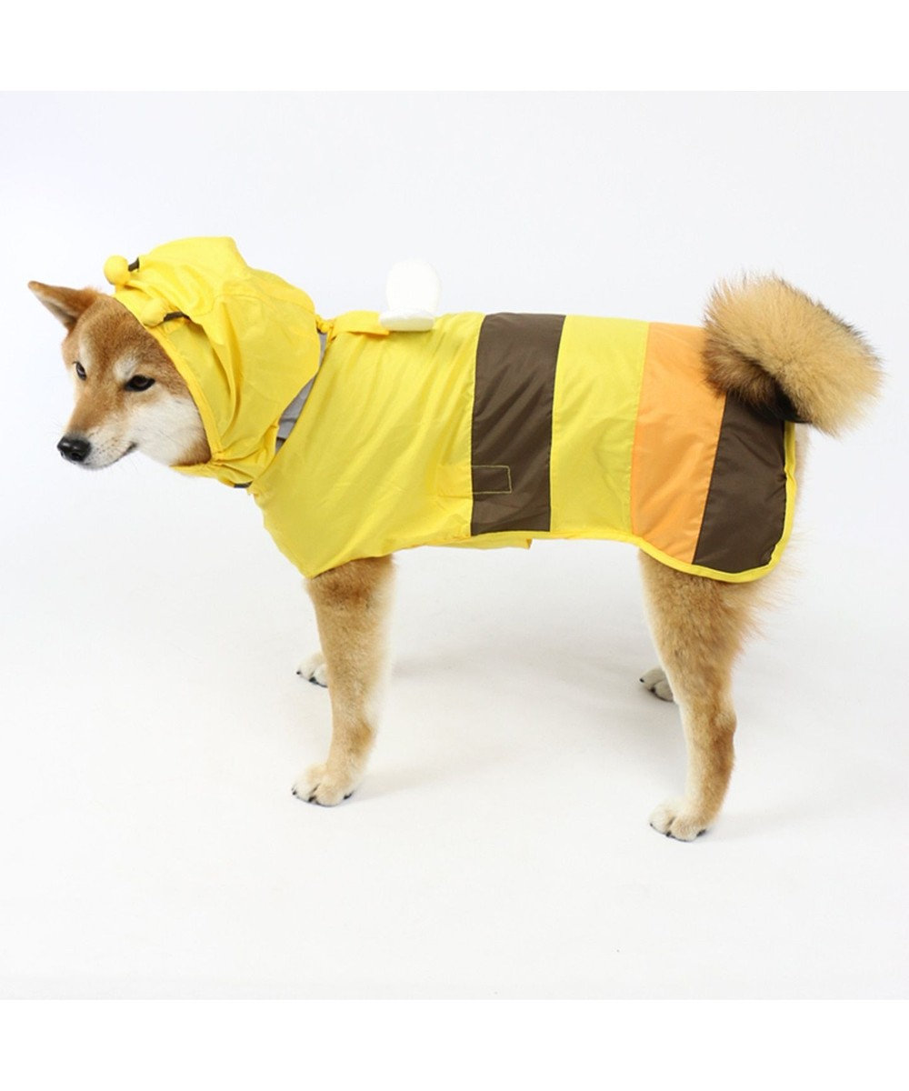 PET PARADISE 犬服 犬用品 ペットグッズ ペットウェア ペットパラダイス 犬 カッパ 蜂レインコート(ポンチョタイプ)【中・大型犬】 小型犬 雨具 ポンチョ 黄