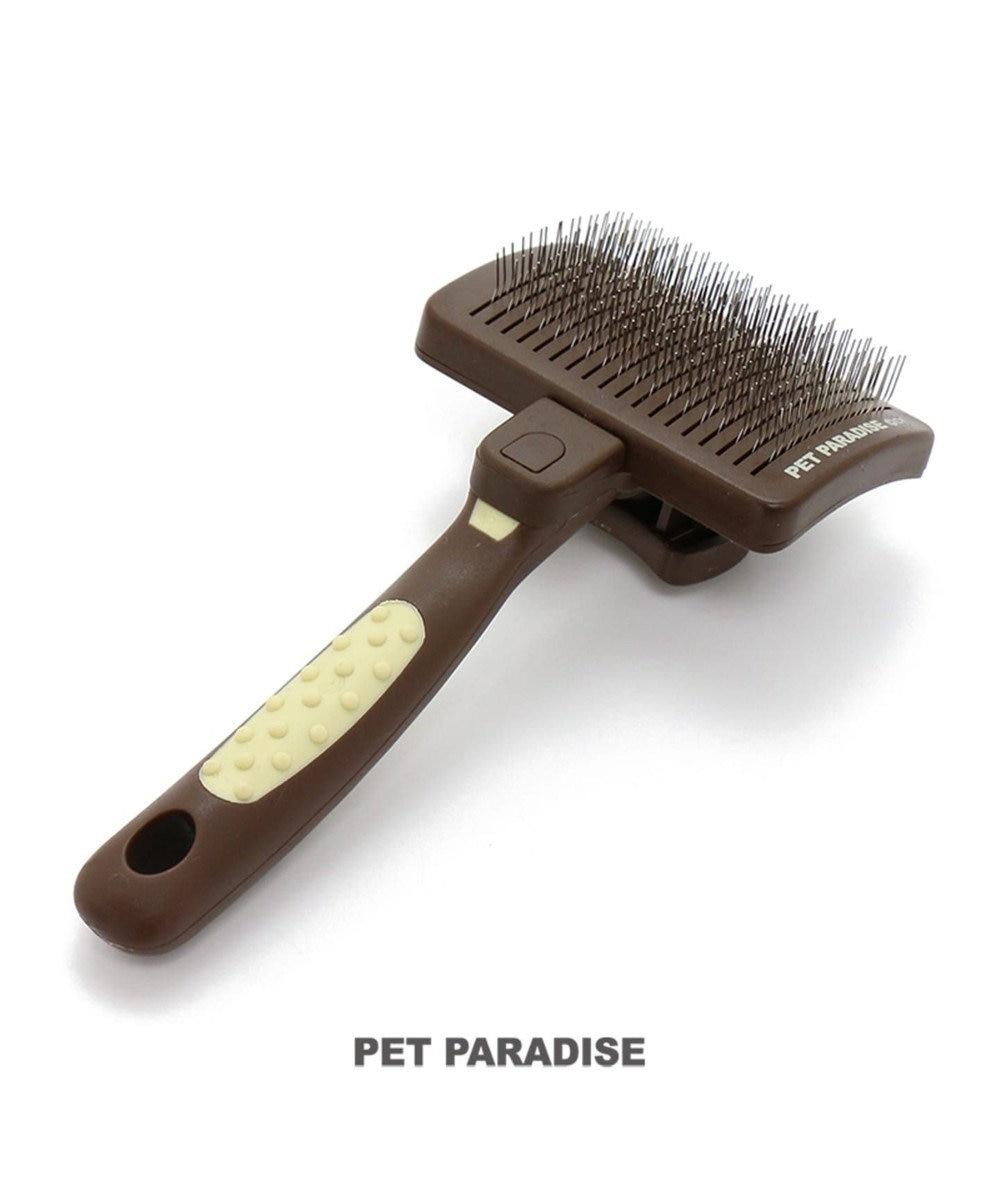 PET PARADISE ペットパラダイス ケア用品 ワンタッチスリッカ- 茶系