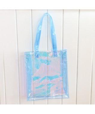 Mother garden しろたんオーロラバッグ ビニールバッグ プールバッグ 透明 ピンク(淡)