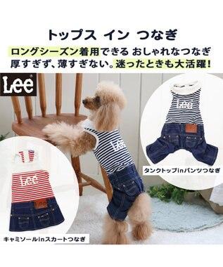 PET PARADISE Lee タンクインパンツ上下[小型犬] 紺(ネイビー・インディゴ)