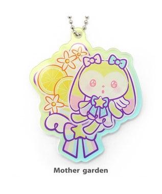 Mother garden お誕生日限定!うさもも アクリルキーホルダー ぽぽち