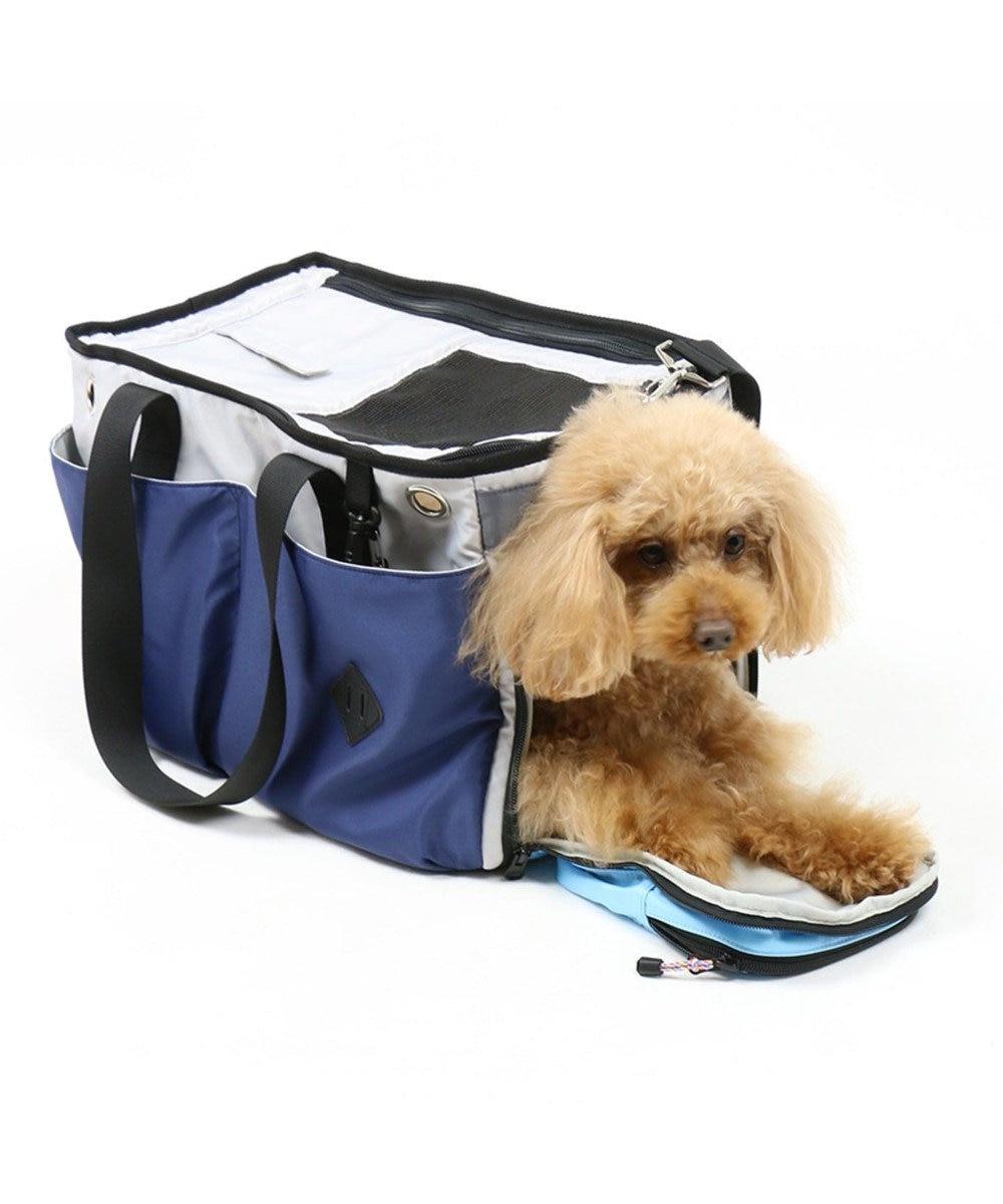 PET PARADISE フィールドグライド ペットキャリーバッグM カラフル〔小型犬〕 紺(ネイビー・インディゴ)