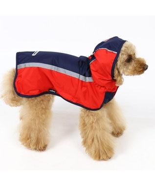 PET PARADISE フィールドグライド レインマント 赤×紺[小型犬] 赤