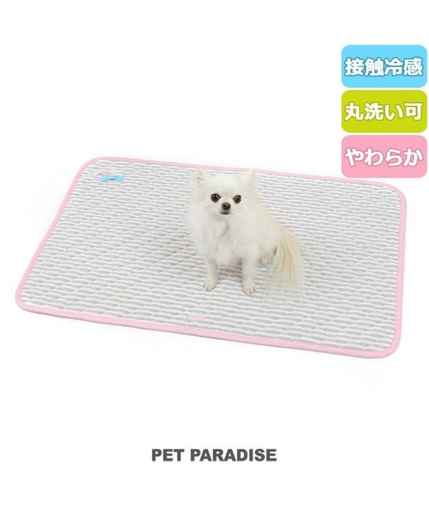 PET PARADISE プリティブーケ クール柔らかマット 大  ひんやり 薄型 ピンク(淡)