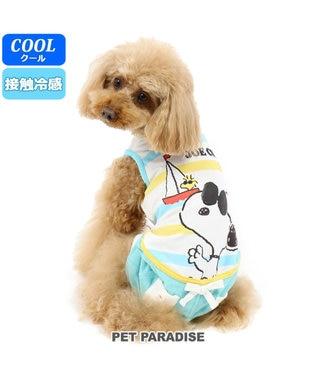 PET PARADISE スヌーピー クールマックス JOEパンツ付き上下[小型犬] 水色