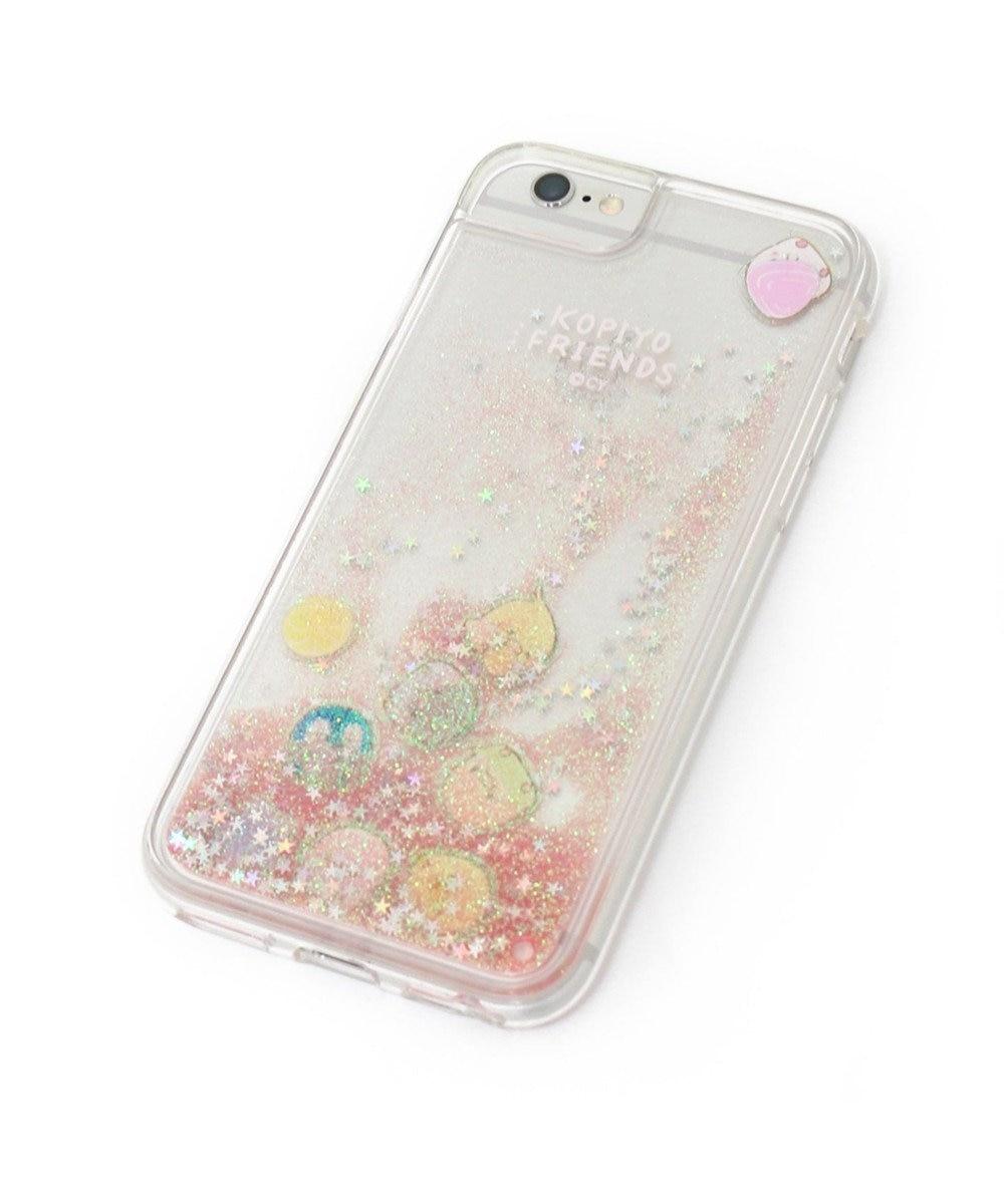 Mother garden こぴよフレンズ スマホケース ラメ アイフォン8/7/6/6S専用 iphone ピンク(淡)