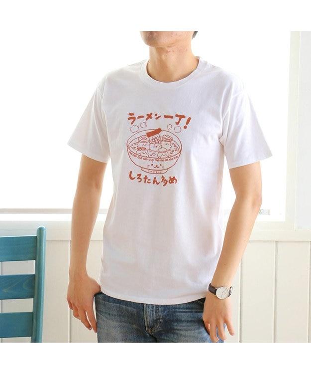 Mother garden ネット店限定発売 しろたん つぶやきTシャツ ラーメン柄