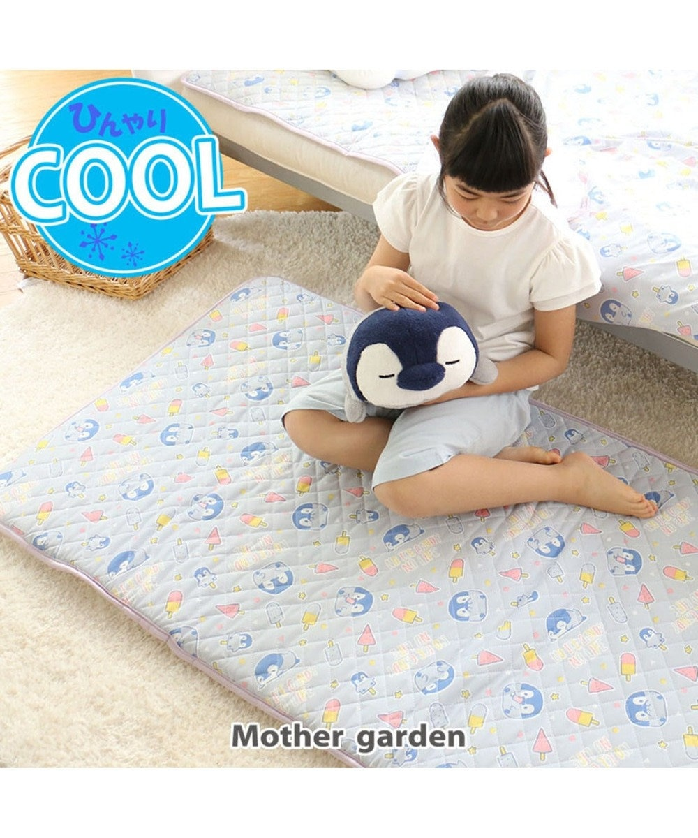 Mother garden こぴよフレンズ クール 接触冷感 ごろ寝マット 白~オフホワイト