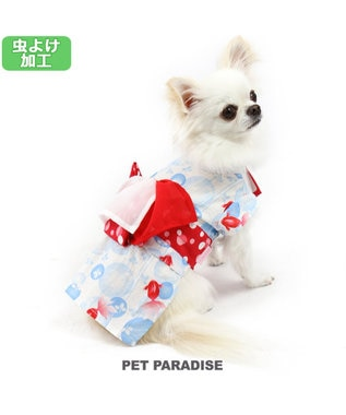 PET PARADISE プリティブーケ きんぎょ柄 浴衣[小型犬] 赤
