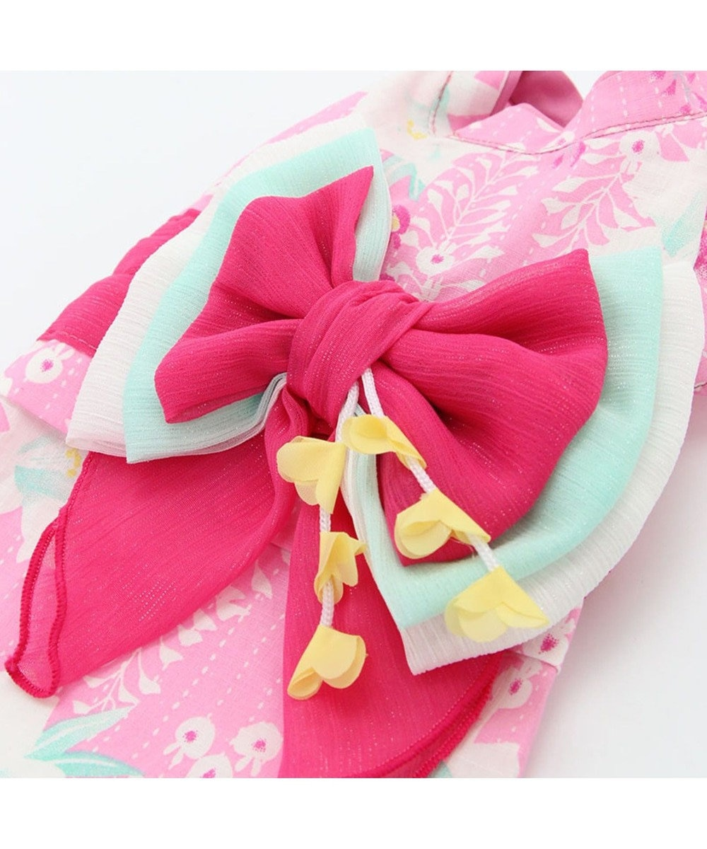 PET PARADISE プリティブーケ 藤百合柄浴衣 ゆかた [小型犬] ピンク(淡)