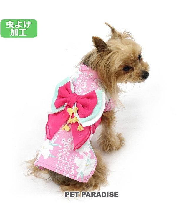 PET PARADISE プリティブーケ 藤百合柄浴衣 ゆかた [小型犬]