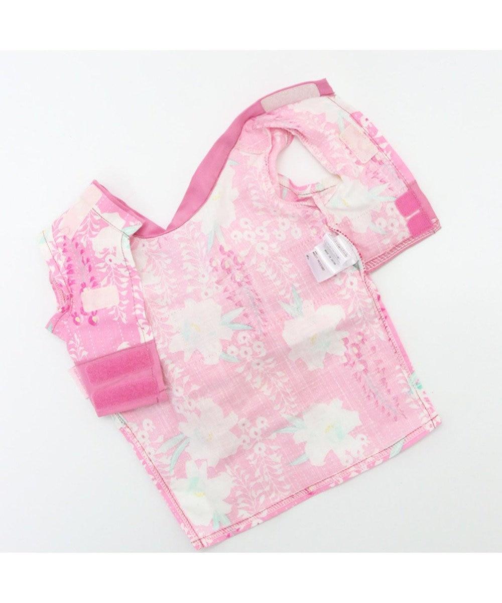 PET PARADISE プリティブーケ 藤百合柄浴衣 ゆかた [中/大型犬] ピンク(淡)