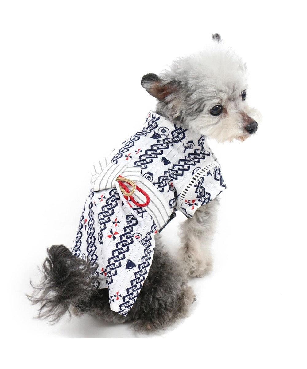 PET PARADISE フィールドグライド お祭り浴衣[小型犬] 紺(ネイビー・インディゴ)