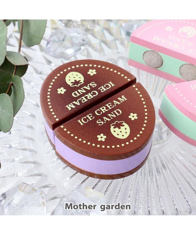 Mother garden マザーガーデン 木のおままごと 苺ビスケトサンドアイス茶
