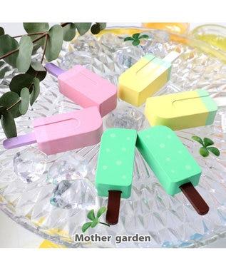 Mother garden マザーガーデン 木のおままごと 苺はんぶんこアイスセット マルチカラー